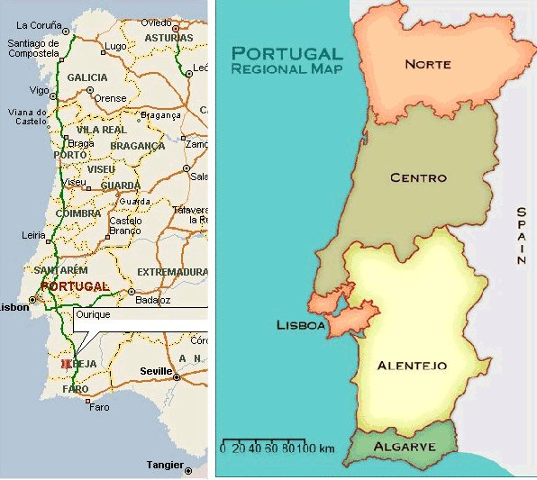 Location - Portugal map location